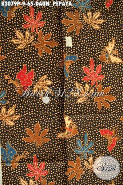 Batik Kain Nan Istimewa, Batik Printing Halus Motif Daun Pepaya Untuk Busana Modis Dan Berkelas