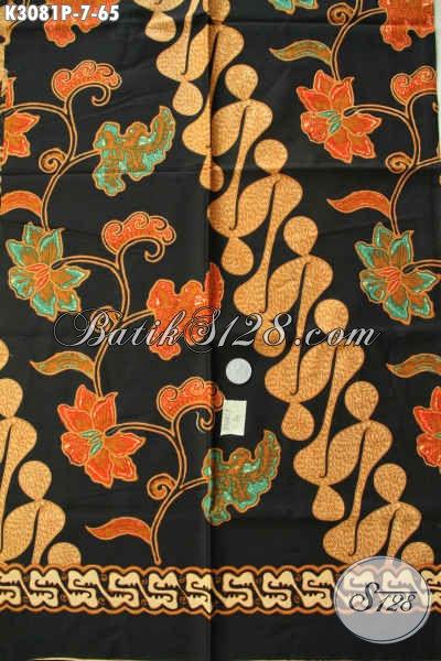 Batik Hitam Motif Bagus Dan Berkelas, Batik Printing Solo Bahan Paaian Pria Nan Elegan, Tampil Menawan