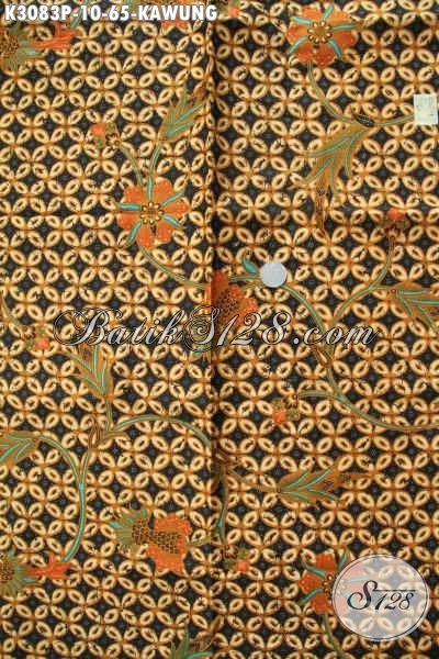 Produk Batik Bahan Busana Elegan Buatan Solo, Kain Batik Printing Motif Kawung Hanya 65K
