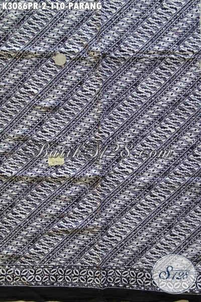 Batik Kain Elegan Bahan Paris, Batik Klasik Solo Motif Parang Proses Cap, Cocok Untuk Kemeja Cowok