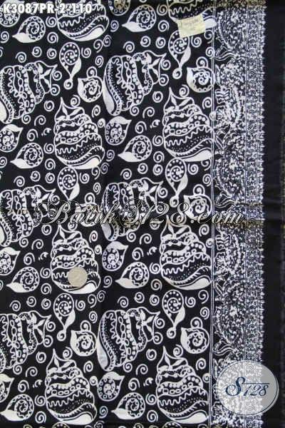 Koleksi Terkini Kain Batik Bahan Paris Warha Putih Hitam, Batik Bahan Pakaian Wanita Dan Pria Hanya 100 Ribuan [K3087PR-180x110cm]