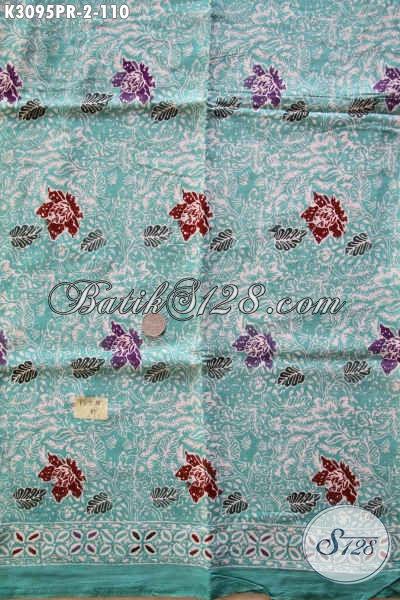 Kain Batik Motif Bunga, Batik Bahan Paris Untuk Busana Kerja Dan Santai Wanita Tampil Gaya Proses Cap 100 Ribuan Saja [K3095PR-180x110cm]