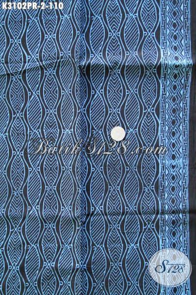 Fashion Kain Batik Bahan Paris Motif Bagus Warna Biru, Cocok Untuk Baju Kerja Dan Resmi Bikin Penampilan Lebih Berkelas [K3102PR-180x110cm]