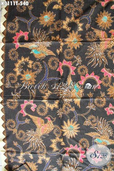 Kain Batik Halus Mewah  500 Ribuan, Batik Tulis Istimewa Buatan Solo Motif Klasik, Bahan Pakain Berkelas Penampilan Makin Istimewa [K3111T-240x115cm]