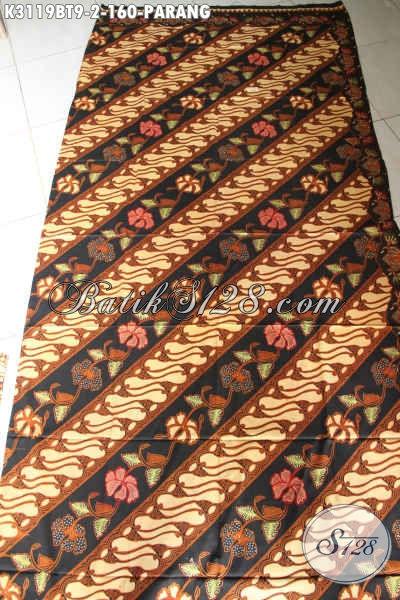 Batik Parang Solo, Kain Batik Klasik Istimewa Proses Kombinasi Tulis Bahan Busana Wanita Dan Pria Untuk Tampil Mempesona Hanya 160K [K3119BT-240x115cm]