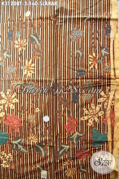 Kain Batik Motif Slarak, Batik Istimewa Kombinasi Tulis Buatan Solo Asli, Pas Buat Baju Kerja Dan Busana Acara Resmi [K3120BT-240x115cm]