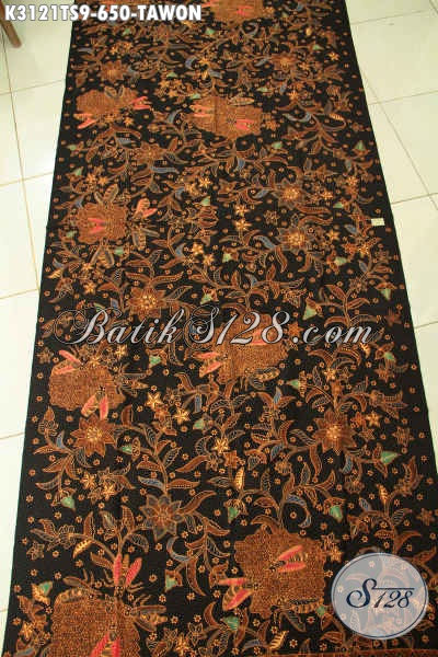 Kain Batik Premium, Batik Tulis Soga Mewah Motif Tawon Bahan Busana Khas Pejabat Dan eksekutif Harga 650K [K3121TS-240x110cm]