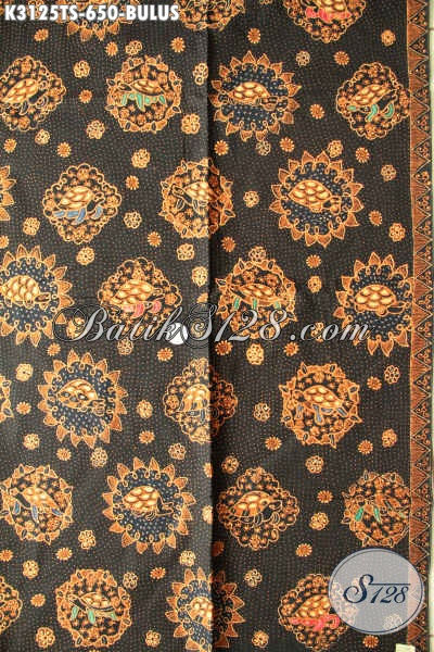 Jual Kain Batik Tulis Soga Solo, Batik Halus Adem Motif Bulus Bahan Pakaian Berkelas Dan Istimewa, Penampilan Mempesona [K3125TS-240x110cm]
