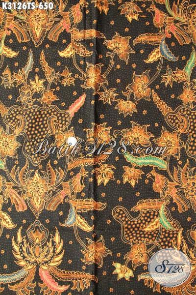 Jual Kain Batik Solo Terkini, Sedia Kain Batik Mewah Tulis Soga Motif Bagus Bahan Pakaian Khas Pejabat Dan Eksekutif, Penampilan Makin Berkelas [K3126TS-240x110cm]