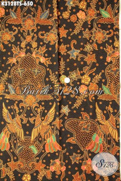 Jual Kain Batik Harga Grosir, Batik Premium Solo Motif Mewah Tulis Soga Untuk Baju Kerja Dan Kondangan, Tampil Berkelas Bak Pejabat [K3128TS-240x110cm]