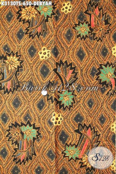 Batik Mewah Halus Motif Debyah, Kain Batik Tulis Soga Klasik Buatan Solo Asli, Bikin Busana Lebih Berkelas Dan Premium