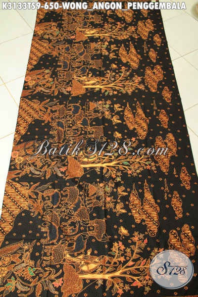 Batik Solo Premium Harga 650K, Batik Klasik Istimewa Tulis Soga Motif Wong Angon Kwalitas Bagus Adem Nyaman Untuk Busana Kerja [K3133TS-240x110cm]