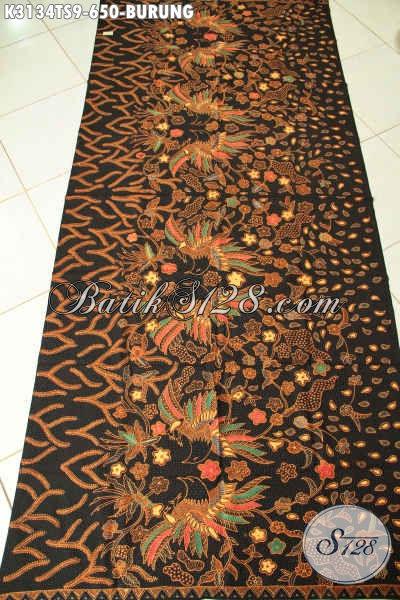Kain Batik Motif Burung, Baitk Batik Solo Elegan Bahan Pakaian Mewah Berkelas Proses Tulis Soga, Di Jual Online 650K