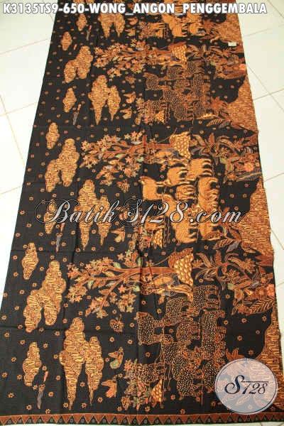 Batik Halus Dan Adem, Kain Batik Premium Tulis Soga Buatan Solo Motif Wong Anggon Harga 650K Untuk Baju Kerja Dan Acara Resmi Spesial [K3135TS-240x110cm]