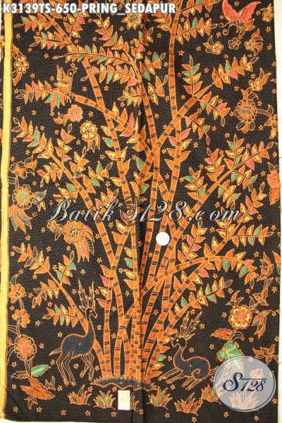 Batik Halus Mewah Motif Pring Sedapur, Batik Solo Tulis Soga, Elegan Untuk Baju Kerja Dan Modis Untuk Pakaian Santai