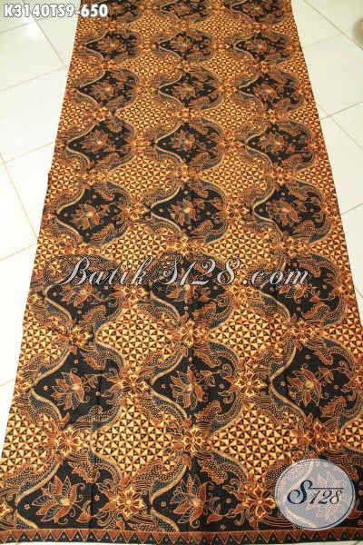 Kain Batik Klasik Solo, Batik Mewah Bahan Busana Berkelas Proses Tulis Soga, Membuat Penampilan Terlihat Berwibawa [K3140TS-240x110cm]