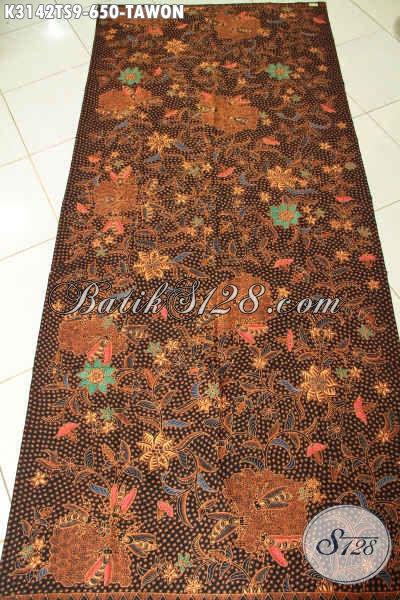 Produk Kain Batik Jawa Terkini, Batik Klasik Tulis Soga Motif Tawon, Cocok Untuk Bahan Busana Formal [K3142TS-240x110cm]