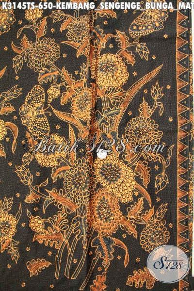 Kain Batik Mewah Untuk Kemeja Pria, Batik Halus Bahan Blus Formal Wanita Motif Mewah Proses Tulis Soga Harga 650K [K3145TS-240x110cm]