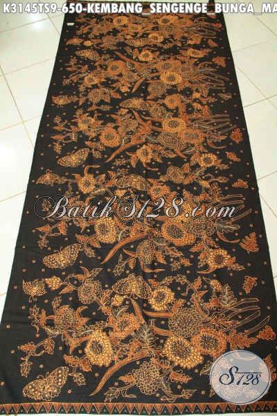 BatikKlasik Motif Bunga Matahari, Batik Tulis Soga Mewah Halus Buatan Solo Jawa Tengah Harga 650K