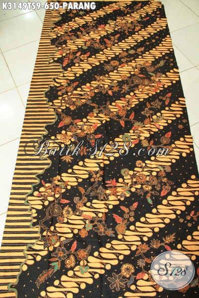 Batik Kain Mewah Halus Dan Adem Nyaman Untuk Pakaian Kerja, Batik Tulis Soga Klasik Motif Parang Harga 650K [K3149TS-240x110cm]