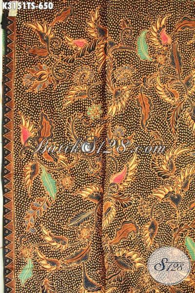 Batik Mewah Mahal Bahan Busana Orang Sukses, Hadir Dengan Motif Klasik Premium Proses Tulis Soga Harga 600 Ribuan [K3151TS-240x110cm]