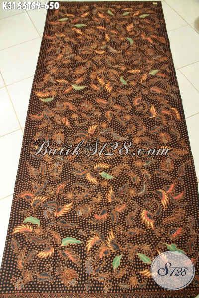 Batik Kain Tulis Soga Motif Klasik Harga 650 Ribu, Batik Mewah Solo Bahan Busana Pria Wanita Penampilan Lebih Mewah Dan Sempurna [K3155TS-240x110cm]