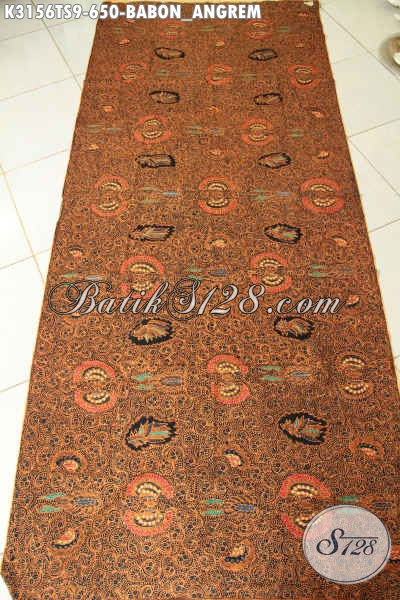 Kain Batik Mewah Klasik Babon Angkrem, Batik Tulis Soga Berkelas Buatan Solo Harga 650K