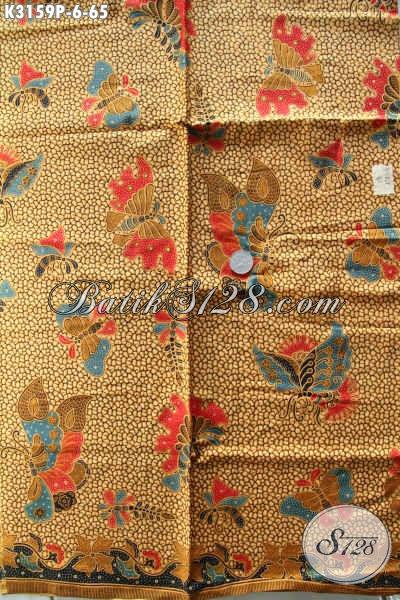 Tempat Beli Kain Batik Murah Kwalitas Mewah Online, Sedia Batik Printing Halus Motif Terbaru Cocok Untuk Baju Kerja Wanita Dan Pria Karir [K3159P-200x115cm]
