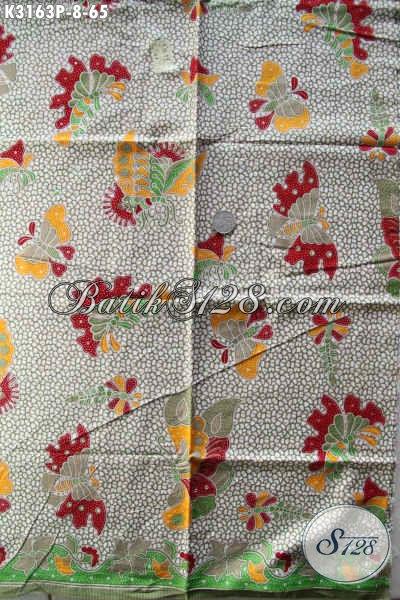 Agen Kain Batik Online, Sedia Batik Solo Halus Proses Printing Motif Terkini Bahan Busana Santai Dan Formal Hanya 65K [K3163P-200x115cm]