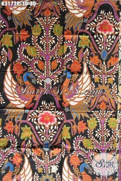 Produk Terbaru Kain Batik Bahan Busana Berkelas Dengan Harga Sangat Terjangkau, Batik Solo Printing Motif Terbaru Untuk Penampilan Lebih Sempurna [K3172P-240x115cm]