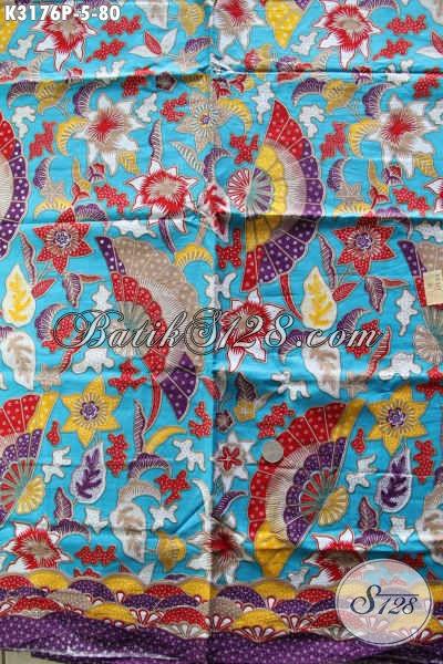 Kain Batik Motif Paling Baru Rilis 2018, Batik Modern Nan Istimewa Bahan Pakaian Wanita Untuk Tampil Gaya Harga 80K [K3176P-240x115cm]