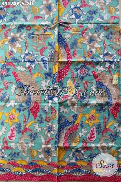 Kain Batik Motif Unik, Batik Modern Buatan Solo Kwalitas Bagus Dan Tidak Luntur Proses Printing Hanya 80 Ribu [K3178P-240x115cm]