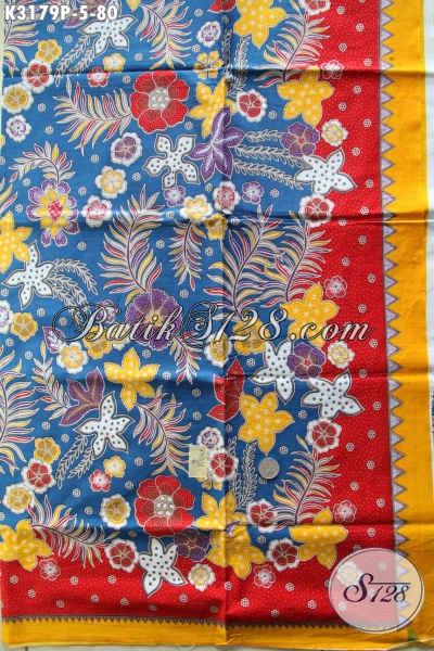 Sedia Produk Kain Batik Kekinian, Batik Halus Motif Unik Proses Printing Dengan Kombinasi Warna Keren Harga 80K