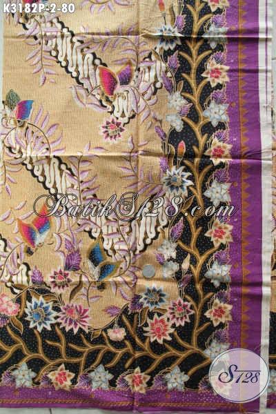 Kain Batik Elegan, Kain Batik Keren, Batik Halus Proses Printing Anti Luntur Hanya 80K [K3182P-240x115cm]