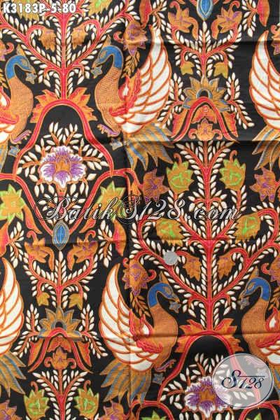 Batik Halus Bahan Pakaian Kerja, Kain Batik Untuk Busana Resmi, Batik Solo Istimewa Proses Printing Motif Terbaru Di Jual Eceran Harga Grosir [K3183P-240x115cm]