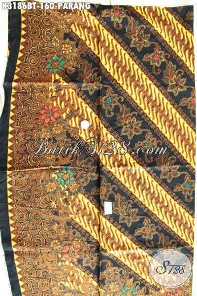 Kain Batik Klasik Motif Parang, Batik Halus Proses Kombinasi Tulis, Cocok Untuk Busana Resmi Dan Seragam Kerja Nan Elegan Harga 160K [K3186BT-240x115cm]