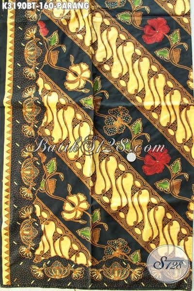 Koeksi Terbaru Batik Kain Klasik Motif Parang Bahan Aneka Busana Formal Nan Berkelas, Batik Solo Istimewa Menunjang Penampilan Lebih Sempurna [K3190BT-240x115cm]