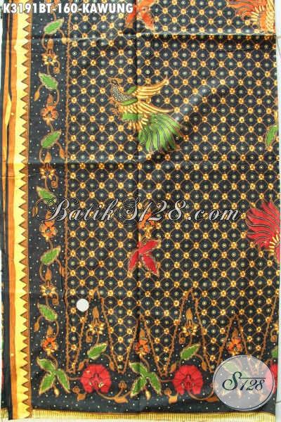 Batik Kain Kombinasi Tulis Istimewa Motif Kawung, Batik Halus Bahan Pakaian Kerja Nan Elegan Harga 160K