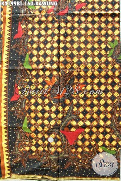 Produk Terkini Kain Batik Solo Elegan Motif Kawung, Batik Halus Proses Kombinasi Tulis Bahan Pakaian Kerja Penampilan Mewah Dan Berkelas Hanya 160K