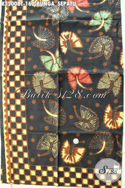 Jual Produk Batik Solo Istimewa Motif Bunga Sepatu, Batik Kombinasi Tulis Halus Dan Berkelas, Penampilan Makin Sempurna
