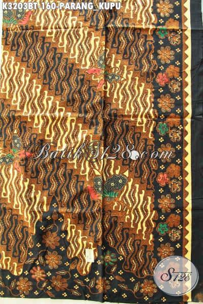 Batik Halus Motif Klasik Parang Kupu, Kain Batik Istimewa Terkini Buat Baju Rapat Maupun Kondnagan Proses Kombinasi Tulis