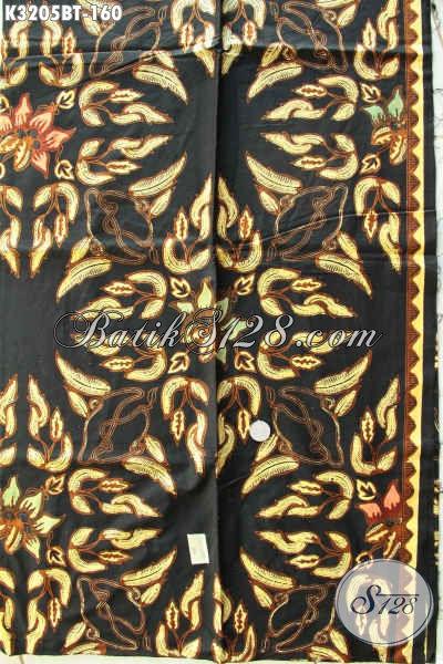 Batik Kain Elegan Solo, Produk Batik Bahan Baju Kerja Nan Istimewa Proses Kombinasi, Penampilan Lebih Berkelas Premium [K3205BT-240x115cm]