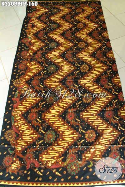 Batik Klasik Nan Istimewa, Kain Batik Berkelas Proses Kombinasi Tulis, Batik Solo Halus Bahan Aneka Busana Pria Untuk Tampil Gagah Berwibawa [K3209BT-240x115cm]