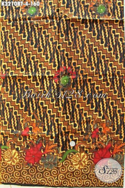 Jual Kain Batik Klasik Bahan Pakaian Resmi, Batik Kombinasi Tulis Kwalitas Halus Adem Dan Tidak Luntur Harga 160 Ribu Saja [K3210BT-240x115cm]