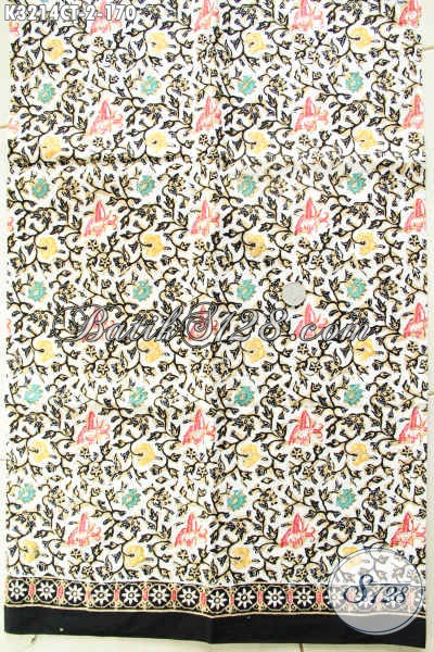 Batik Kain Solo Terkini, Batik Halus Bahan Pakaian Elegan Dan Berkelas Tampil Menawan Proses Cap Tulis 100 Ribuan Saja [K3214CT-200x110cm]