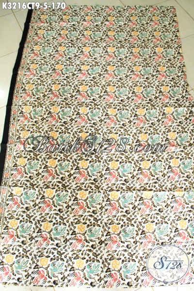 Kain Batik Bahan Busana Santai, Batik Solo Cap Tulis Motif Trendy Untuk Busana Ngantor Kwalitas Bagus, Pas Untuk Pakaian Wanita Maupun Pria Hanya 170K