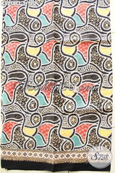 Sedia Kain Batik Solo Terkini, Batik Halus Motif Elegan Berkelas Untuk Pakaian Kerja Proses Cap Tulis Harga 170K [K3219CT-200x110cm]
