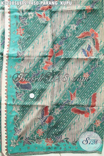 Produk Kain Batik Premium Bahan Sutra Motif Parang Kupu, Batik Modern Klasik Nan Mewah Pas Banget Untuk Busana Kerja Dan Acara Resmi [K3228SUETS-240cmx110cm]
