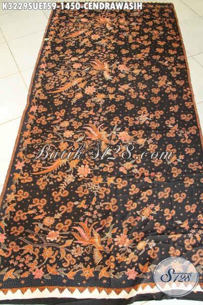 Kain Batik Tulis Tangan Pewarna Soga, Batik Sutra Solo Premium Cocok Untuk Busana Formal Nan Mewah