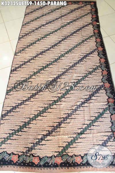 Kain Olshop Batik Solo, Jual Kain Batik Mewah Bahan Sutra, Batik Tulis Soga Premium Motif Parang Klasik, Cocok Banget Untuk Busana Pria Eksekutif